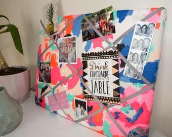 Bright Floral YOU Board, memory board, ribbon board, bulletin board, message board, home decor, photo board, wall hanging, gift