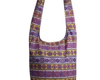 Nordic Hippie Bag Handmade Crossbody Bag Shoulder Sling Bag Messenger Bag Purse Cotton Canvas