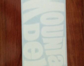 Mountain Dew - Vinyl Sticker in White