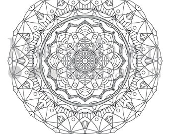 Printable mandala coloring page Instant download adult coloring page