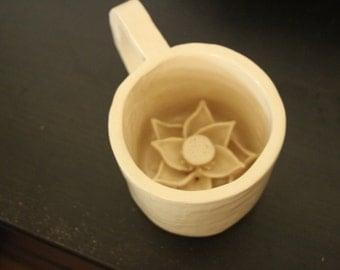 Floral Bottom Tea Mug
