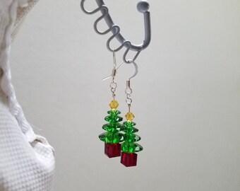 Swarovski Christmas Earrings