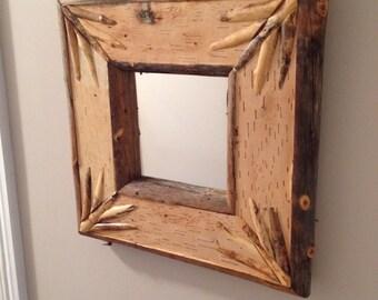 Birch Bark Mirror #8