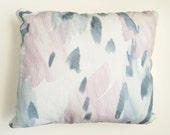 """Faded Gray Blue Throw Pillow, 13 x 17"""" with Insert"""