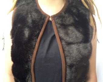 Discount budget VESTS Playavest, faux fur Playawear festival BurningMan style fur upcycled vintage Free shipping USA ships now!