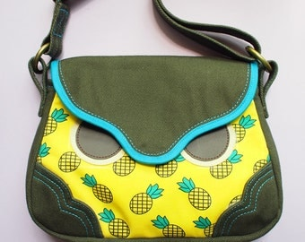 Sling Purse - Hoot The Owl (Sunny Pineapples)