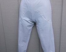 Vintage White Shaper Capri Pant Girdle Shaper by Cupid / capris pants Lingerie // Med