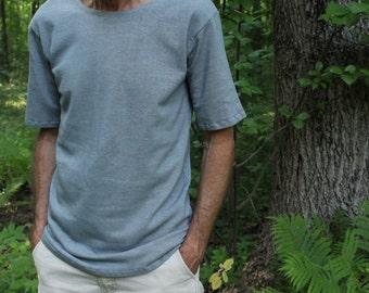 mens hemp t-shirt - 100% natural hemp and organic cotton - custom made to order - hand dyed