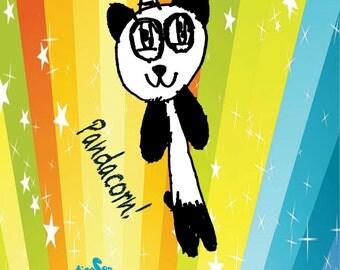 Rainbow Pandacorn 2 by 3 inch Fridge Magnet