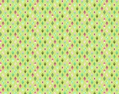 Tula Pink Slow and Steady Track Flags in Strawberry Kiwi Free Spirit cotton quilt fabric - half yard