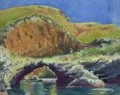 Framed Watercolor Ocean I...