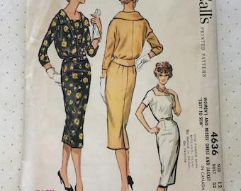 1958 McCall's Dress and Jacket Pattern No. 4636