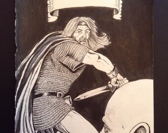 Beowulf original illustration on the title page