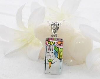 Rabbit Jewelry Bunny Necklace Elsie - Rabbit Pendant - Bunny Jewelry - White Rabbit