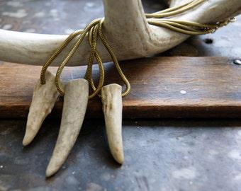 Antler Choker - Dear Antler Choker - real antler choker - antler tip choker - antler necklace - Woodland - bohemian jewelry - boho chic