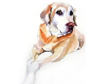 11x14 Custom Watercolor Pet Portrait