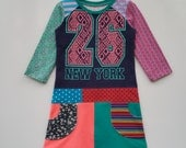 Size 7 (51 1/2 inch) upcycled, unique and repurposed Sporty dress New York