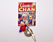 CHARLIE CHAN Book Cover Charm Pin