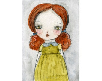 Dorothy - Giclee Reproduction Of Original Watercolor Painting By Danita Art (Paper Prints and ACEO Wood Mounted)