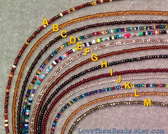 Seed Bead Bracelet, Seed Bead Anklet, Brown Bracelet, Brown Anklet, multicolor Bracelet, multicolor anklet, necklace extender LoveThemBeads