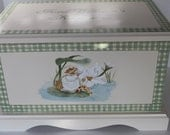 CUSTOM order for Emily - Keepsake Chest Memory Box personalized baby - Tom Kitten & Squirrel Nutkin