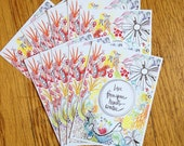 live from your heart's center. tribe set of 12 cards for giving, tucking, enclosing, and sharing.