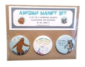 Awesome Magnet Set, a set of 3 magnets by Anna Tillett Designs