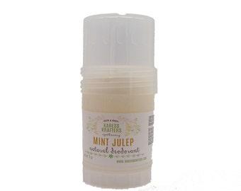 Mint Julep Natural Deodorant -  Aluminum Free - 24-Hour Protection - Shea Butter- Coconut Oil - Essential Oils - Vitamin E - Gentle