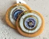 Textured Discs - Cream and Orange