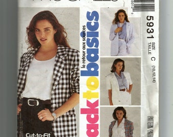McCall's Misses' Unlined Jacket Pattern 5931