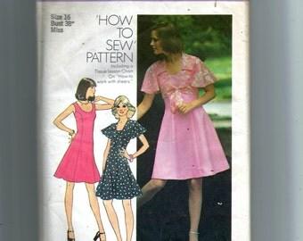 Vintage Simplicity Misses' Short Princess Seam Dress and Top Pattern 6798