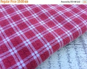30%OFF SUPER SALE- Reclaimed Plaid Fabric-Reclaimed Bed Linens-Pink