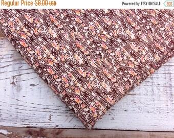 30%OFF SUPER SALE- Brown Quilting Fabric-- Quilting Cotton Fabric-Retro Design