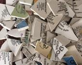 Mosaic Tiles Mixed Media Pieces Hand Cut Broken Plate Assortment Mix Words Maker Marks