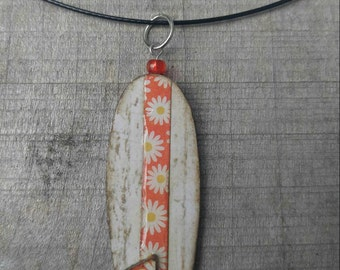 wearables...necklace...funky surfboard whitewash