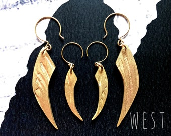 Frances Claw earrings/ Large/ Bronze/ West