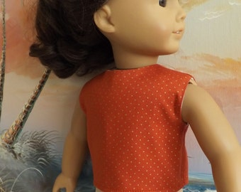 18 Inch Doll Clothes Rust With Gold Dots Modified Crop Top NEW for Fall 2016