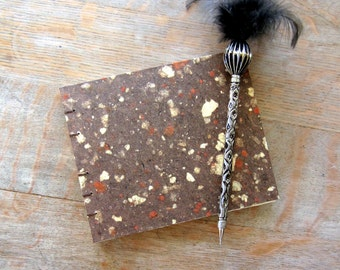Guest Book or Art Journal, Natural Brown 5x6 inches, unlined pages, Ready to ship