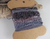 Small Logwood Slate Purple Natural Dye Textured Thread Pack