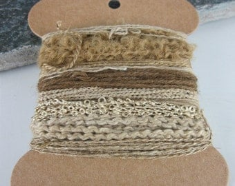 Small Sumac Brown Natural Dye Textured Thread Pack