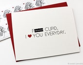Funny Love Card. Mature Card. Anniversary Card. F*ck Cupid. All Occasion Card.