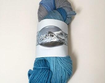 Destash - Ester Bitran Andes Yarn - Blue and Grey