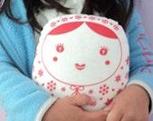 carminita snowflake --- matryoshka doll grande-- red n white-- (ready to ship in 3 days)