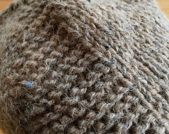 Dusky Plains Hat - Handknit Tan Textural Beanie