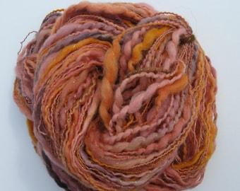 Handspun Yarn, Alpaca and Finn Sheep Yarn, Novelty Art Yarn for Knitting, Crochet, Felting and Weaving - 110 yards