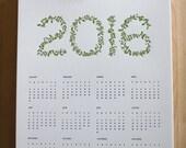 Horticultural Letterpress Calendar - 2016