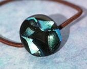 Dichroic Fused Glass Hair Tie No. 3098