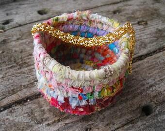 BRACELET COLLECTION  textile art small storage  Basket Number nineteen