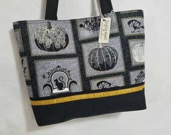 Halloween Pumpkin Victorian Gothic purse tote bag handbag