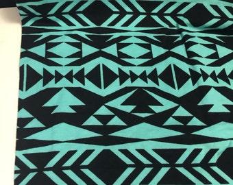 Abstract Tribal Print Lycra Knit 5/8 Yard